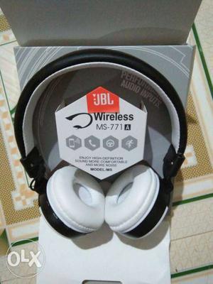 White And Black Wireless Headphones