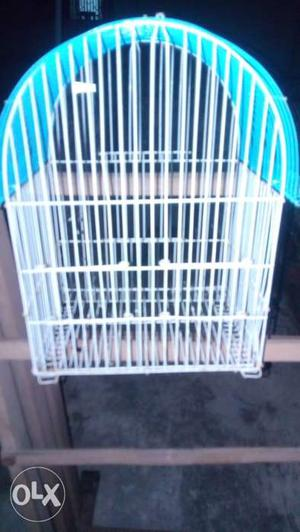 White And Blue Steel Birdcage