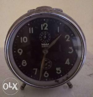 Antique Round Gray Alarm Clock