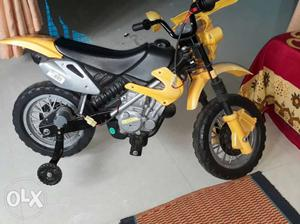 Toddler's Yellow And Black Bike With Training Wheels