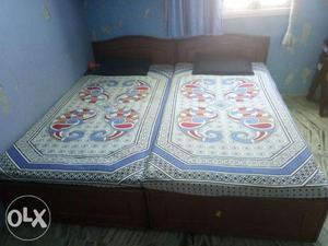 Two single bed 6 x 3.2 with matress
