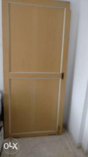 Wooden sliding door,size is 6 feet by 3 feet.