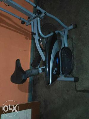 Black and grey colour exercise cycling machine for fitness