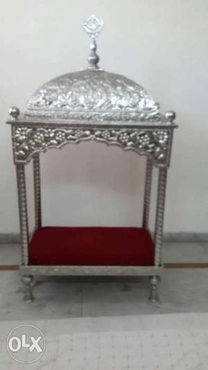 Puja mandir wmade in plywood veneer and wood   Posot Class