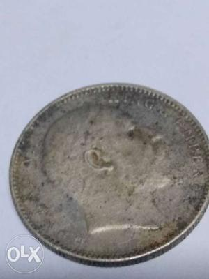 One rupee coin of  with Urdu written