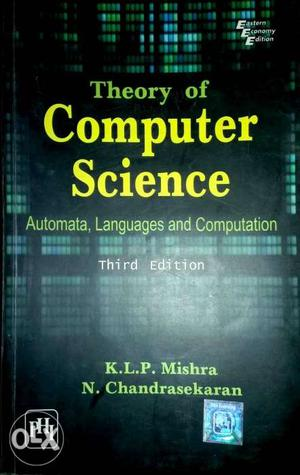 Theory Of Computer Science 3rd Edition By K.L.P Mishra