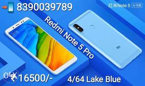 Redmi Note 5 Pro Lake Blue, Gold & Black Box Pack