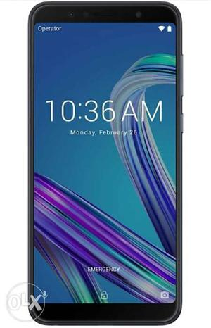 Asus ZenFone max pro m1 black new only 7 days use