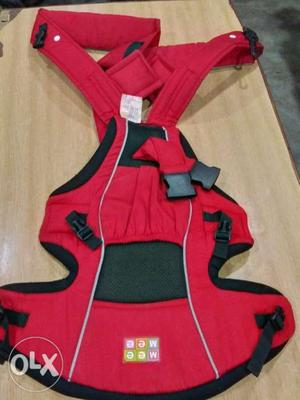 Baby's Red And Black Carrier