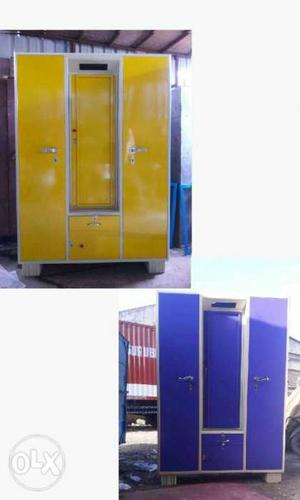 Colourful steel wardrobe selling at best price
