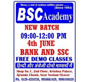 SSC CGL AND SBI PO COACHING IN FARIDABAD BSC ACADEMY FDB