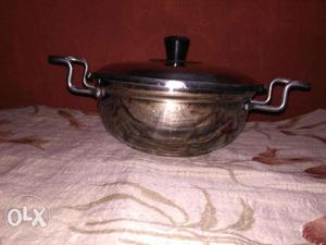 Very New, Thick, Strong, Steel Dish(with Lid)