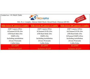 HIKVISION SUMMER OFFER FOR CCTV SECURITY SYSTEM Chennai