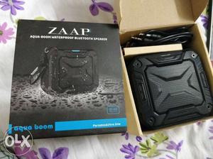 Black Zaap Aqua-boom Waterproof Bluetooth Speaker With Box