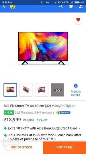 Mi TV 4A 80 cm (32) Smart LED TV Full HD LED