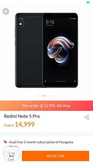Redmi Note 5 PRO 4gb 64gb gold available