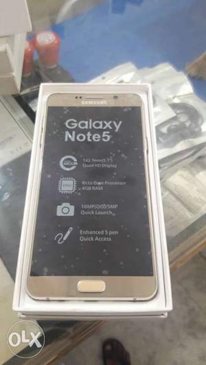 Samsung note 5 dual SIM with bill box 32 gb
