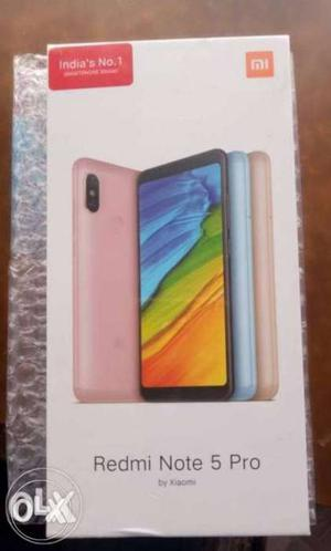 Seal pack,redmi note 5 pro gold