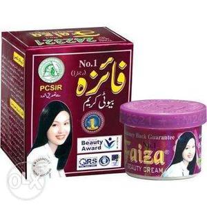 Faiza fairness cream, soup and facewash.