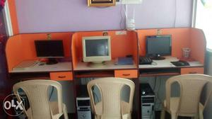 For office use computer workstation made up of