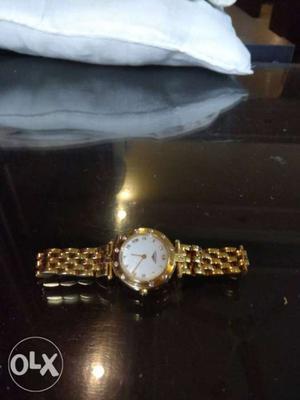 Longines 18carat gold watch with diamonds