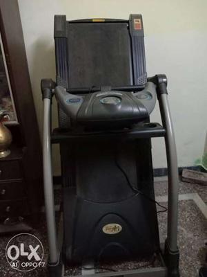 Black Treadmill Machine
