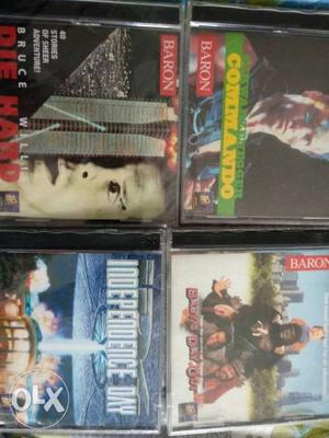 Set of 20 cds of movies with plastic cd case