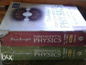 Two Pradeep's Fundamental Physics Volume 1 And 2 Books