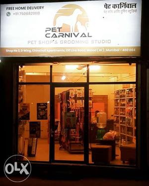 Pet shop with grooming services available in