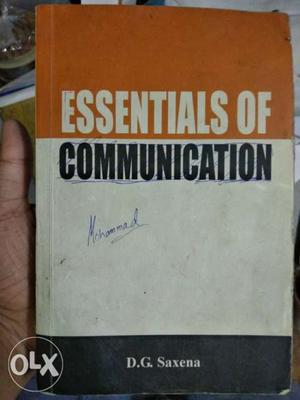 Essentials Of Communication Book By D.G. Saxena