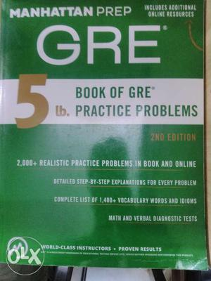 Manhattan prep GRE 5lb. A complete solved guide