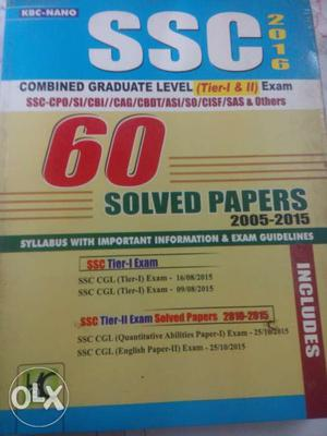 SSC - CGL Tier-1& Tier-2 Solved Papers