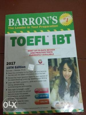 Barron's GRE and TOEFL book. New condition. The