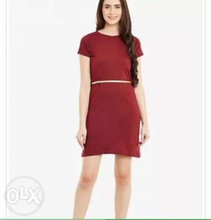 Beautiful red dress free home delivery Free home