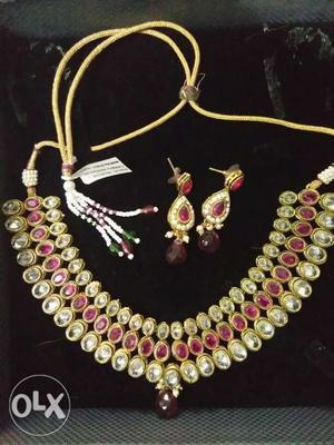 Designer jewellery necklace set brand kashvi
