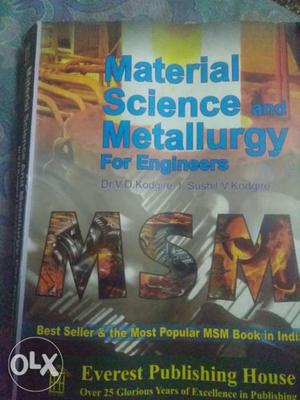 Material Science And Metallurgy For Engineers Book