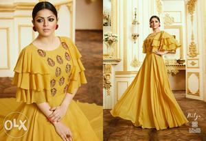 *Party Wear gown* Fabric: Export quality maslin