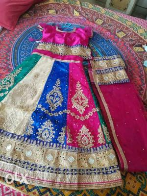 Beautiful colourful brand new lenghna for girls