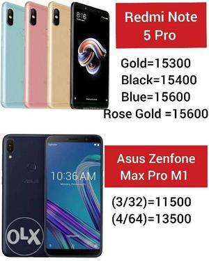 Redmi Note 5 Pro, Asus Zenfone Max Pro M1, Redmi