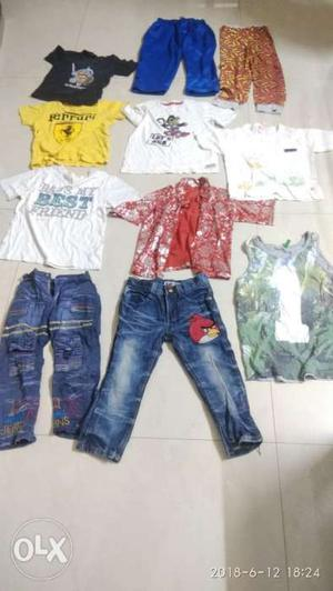 Used clothes Jeans 50 rupees each & T shirt 25