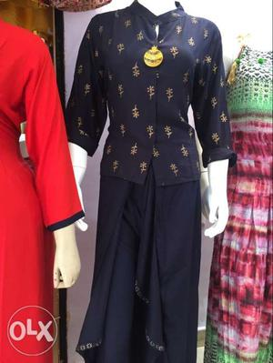 We have all kind of designer kurtis and pajama...