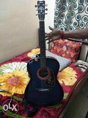 Blue Fender Acoustic Guitar