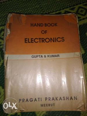 Hand book for Electronics,Old book but contain all topics