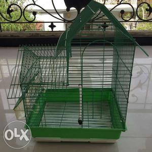 Green Steel Birdcage