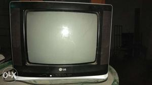 LG color CRT TV Television with remote control