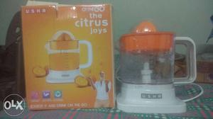 White And Orange Usha Citrus Juice With Box