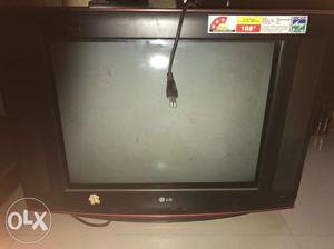 21 inch screen TV with a Tata sky set top box is