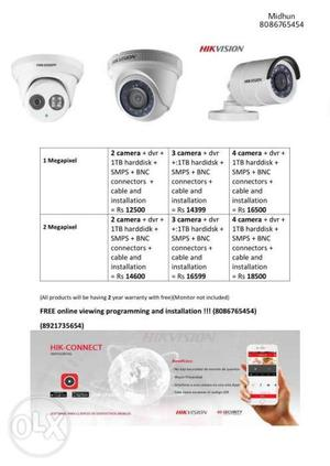 Hikvision HD cctv camera installation and