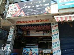 Sri Vishnu Ice Cream Signage