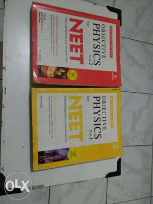 Two Objective Physics NEET Vol. 1 And 2 Books